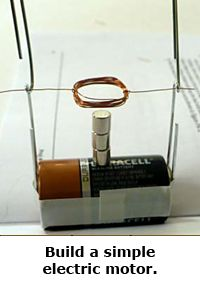 Spring break science / hands-on projects guide for families -- Build a simple motor
