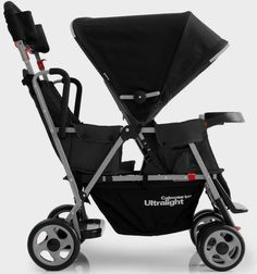 Joovy Caboose Too Ultralight Stand-On Tandem Stroller in Black Best Twin Strollers, Double Strollers, Kids Hairstyles Boys, Boy Hairstyles, Double Stroller Reviews, Kayak Rack, Jogging Stroller, Tandem, Future Baby