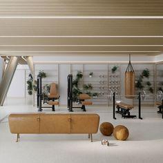 Trendy home gym room design ideas Dream Home Gym, Gym Room At Home, Home Gym Decor, Best Home Gym, Home Gyms, Garage Gym, Basement Gym, Basement Ideas, Basement Bathroom