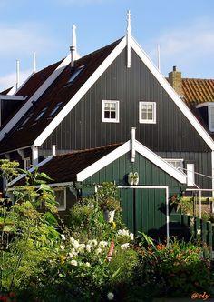 The houses of Volendam, Netherlands Copyright: Ely Gaetani