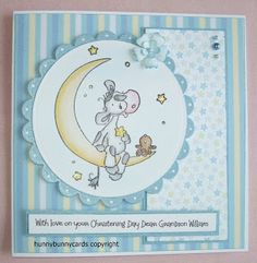 Welcome to my blog: Baby Boy Christening Card