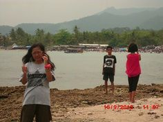 Anyer beach. With family