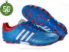 premium selection db342 ccc4c Boutique Chaussures de foot adidas adipure 11Nova TRX AG Bleu Blanc Rouge (Chaussures  De Foot