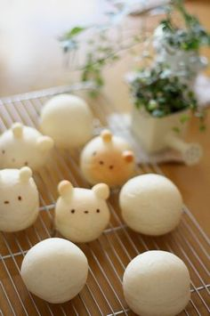 How to make bear bread. The finished bears are elsewhere in my kawaii folder.