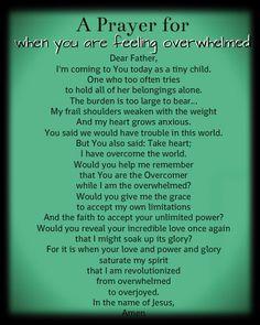 A Prayer for When You Feel Overwhelmed