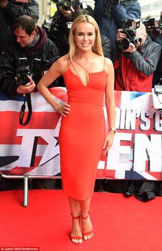 Glamorous as ever: All eyes were on Amanda Holden in her little red dress as she joined Amanda at the fun-filled launch event