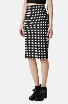 Love a windowpane check // Topshop Gingham Tube Skirt available at #Nordstrom