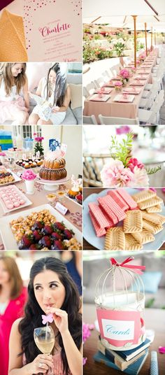 Garden party bridal shower! This would be so great in our back court yard area! Little White Book