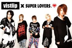 Collaboration items with members of visual kei band vistlip,  Tomo, Umi, and Tohya, release from SUPER LOVERS!