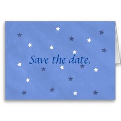 Blue White #Stars Save the Date Note Cards #SaveTheDate #SaveTheDateCards