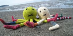 Knitty: Socktopus : I made the head and half a leg.  Someday I'll finish this one...