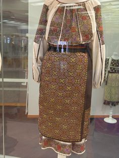 XIX-th century Traditional Romanian Folk Costumes from Muntenia, Muscel area, Arges county. Folk Costume, Costumes, Cross Stitch Patterns, Bucket Bag, Romania, Traditional, Bags, Popular, Beautiful