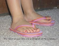 One Craftalicous Momma: Flip Flops From Scratch - I hope to be making LOTS of flipflops this Summer!!