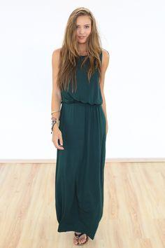 Maxikleider - Maxi Kleid Demy in dunkelgrün - ein Designerstück von Shoko bei DaWanda