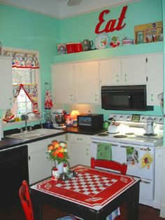 50s Kitchens i love the 50's diner look. | 50's ❤ | pinterest | diners
