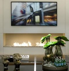 Design your fireplace with an insert which fits perfectly within a stylish interior. AFIRE high-end design fireplace: the fusion of luxury, art & technology Fireplace Tv Wall, Fireplace Design, Fireplace Ideas, Foyers, Camino Design, Art And Technology, Hearth, Interior Design, Stylish Interior