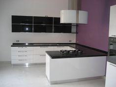 cucina bianca lavello nero - Cerca con Google