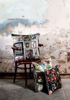 Rose Trellis Print Cushion - Emily Humprey - Lime Lace