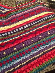Crochet Blanket my mom made. Crochet Afghans, Crochet Quilt, Afghan Crochet Patterns, Crochet Squares, Crochet Home, Granny Squares, Crochet Crafts, Crochet Yarn, Crochet Stitches