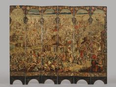 Excellent site with information, detail views, and downloadable images.  Brooklyn Museum: European Art: Folding Screen with the Siege of Belgrade (front) and Hunting Scene (reverse)