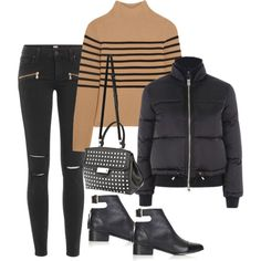 Sin título #1219 by vivig5 on Polyvore featuring polyvore, fashion, style, Topshop Unique, Topshop, Paige Denim, Alexander Wang and clothing
