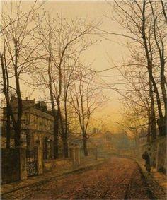 An Autumn Idyll - John Atkinson Grimshaw