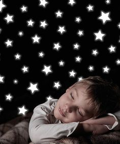Wall Pops Loving this Glow-in-the-Dark Stars Wall Decal Set on #zulily! #zulilyfinds