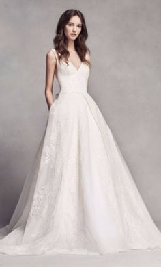 Vera Wang White VW351318 wedding dress currently for sale at 14% off retail.
