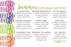 Young Living EO Summer Diffuser Blends