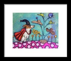 Jack Russell Terrier Framed Print featuring the painting Jack Of All Trades by Marti McGinnis