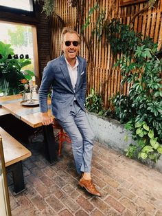 Suited up for Book of Mormon - Stay Classic Blazer Fashion, Mens Fashion, Business Casual Jeans, Book Of Mormon, Classic Man, Fashion Forward, Gentleman, Menswear, Style Inspiration