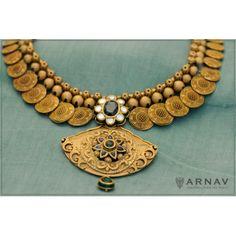 Kushan Necklace ( Gold ) #arnav & co