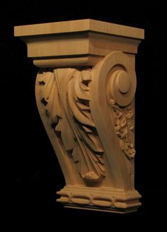 Carved Wood Corbel - Large Acanthus
