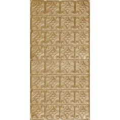 Armstrong Metallaire Brass Patterned Surface-Mount Panel Ceiling Tiles