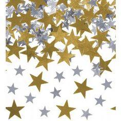 Konfetti Sterne gold, silber 7g