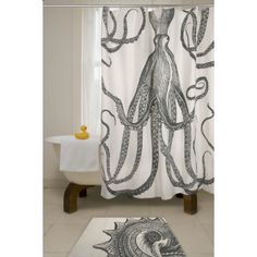 Octopus shower curtain by Thomas Paul