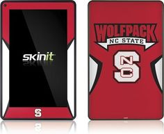 Skinit Wolfpack NC State Vinyl Skin for Amazon Kindle Fire by Skinit. $19.99. IMPORTANT: Skinit skins, stickers, decals are NOT A CASE. Our skins are VINYL SKINS that allow you to personalize and protect your device with form-fitting skins. Our adhesive backing can be applied and removed with no residue, no mess and no fuss. Skinit skins are engineered specific to each device to take into account buttons, indicator lights, speakers, unique curvature and will not interfer...