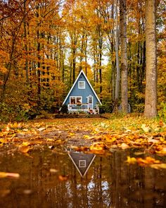 This Cozy A-Frame in the Woods Is One of the Dreamiest Cabins We've Ever Seen