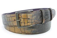 Crème Brulee tonal mock croc roller belt, £120.00