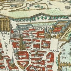 Map of Paris 1615 - Plan de Mérian | Old Maps of Paris