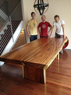 """Natural Edge Dining Table, 50"""" x 96"""" x 4"""" thick - Modern - Dining ..."""