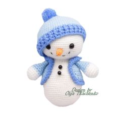 Christmas Snowman Crochet . Stuffed Snowman. Toy Snowman. Christmas Decor. Crochet Stuffed Toy. Winter Decor. Snowman Decor. Winter Snowman