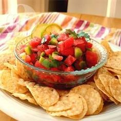 """Salsa z arbuza """"woda i ogień"""" @Allrecipes.pl http://allrecipes.pl/przepis/334/salsa-z-arbuza--woda-i-ogie--.aspx"""