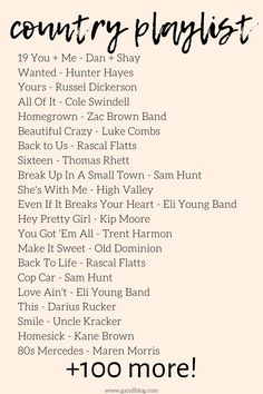 Ultimate Country Playlist Country Songs) - - Are you a country music lover like me? Keep reading to find my ultimate country playlist of 163 country songs that you NEED to hear! Country Music Playlist, Country Music Quotes, Country Music Lyrics, Country Music Singers, Good Country Music, Country Love Songs Wedding, Female Country Songs, Country Songs List, Country Summer Quotes