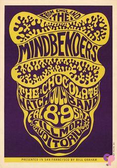 7/8/ 1966 ..... The Mindbenders ..... Chocolate Watchband .... artist ..... WES WILSON