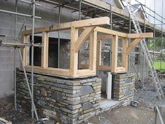 Oak Framed Porch   Castle Ring Oak Frame