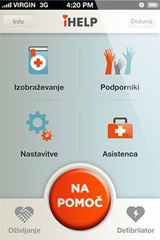 Mobilna aplikacija iHELP skrajša čas do nudenja pomoči in učinkovito poveča možnosti reševanja. Skupaj rešujemo življenja.