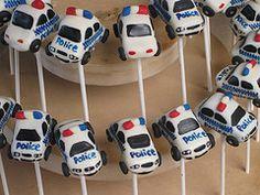 Police Car Cake Pops