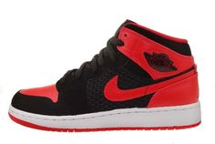 Nike Girls Air Jordan 1 Phat GS Black Siren Red « Shoe Adds for your Closet