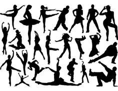 Instant Download Digital Dancers Silhouettes by OneStopDigital, $3.99